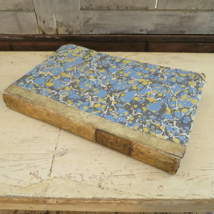 Large 19th century French Book