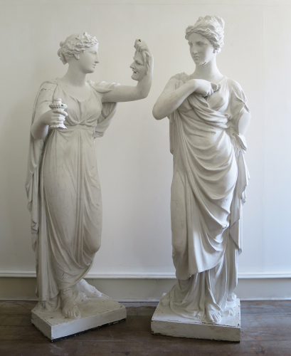 19th century Plaster Figures