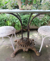 French round iron garden Table circa 1900 - picture 4