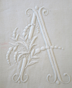 Fine Pair Linen Sheet monogrammed `AC` - picture 5