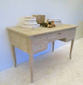 Swedish Bleached Oak Desk - picture 1