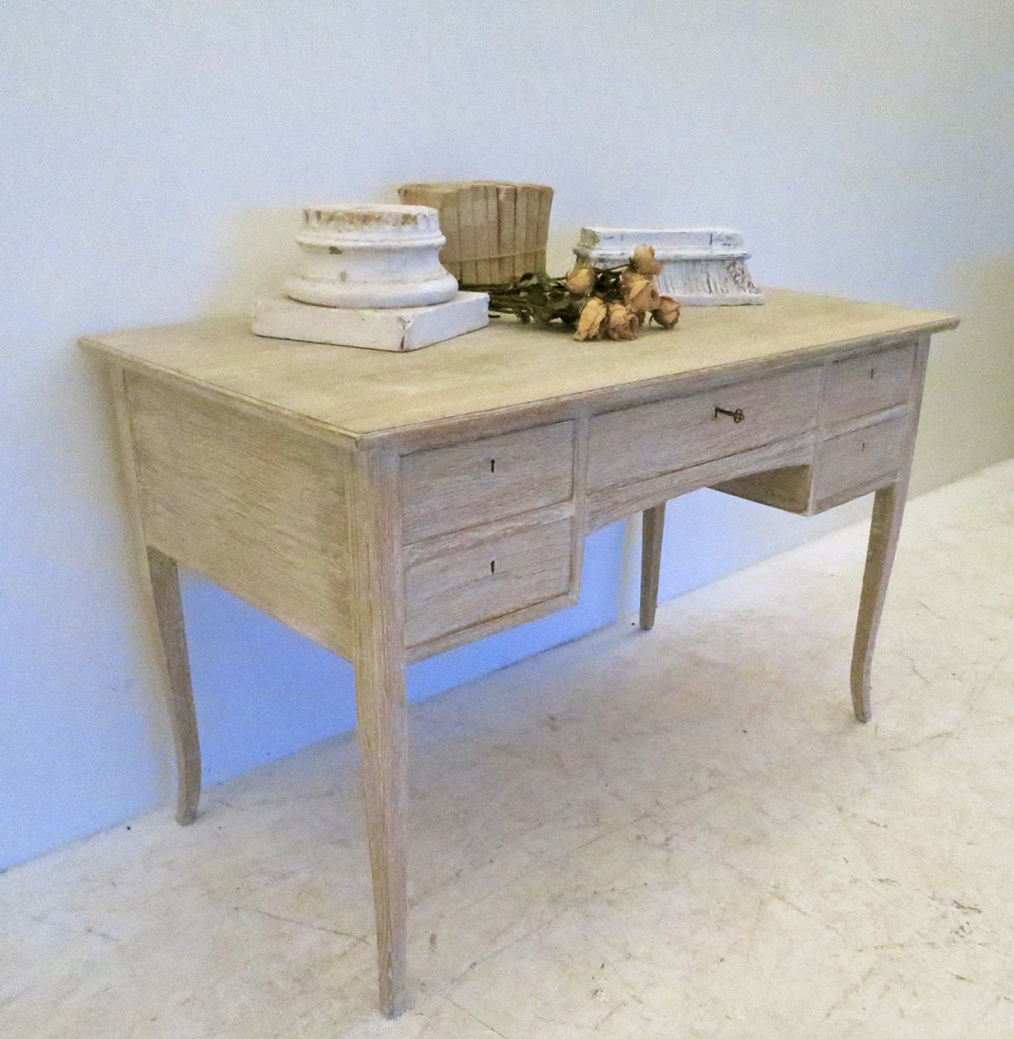 Swedish Bleached Oak Desk