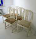 6 19th c Swedish Wheat-sheath Dining Chairs - picture 2