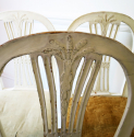 6 19th c Swedish Wheat-sheath Dining Chairs - picture 8