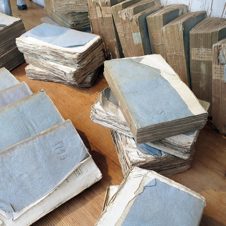 Set of 10 French 18th c Blue Books