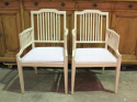 Pair of Swedish Slat-Back Armchairs - picture 1