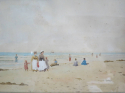 19th c French Watercolour - Beach Scene - picture 1