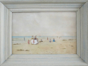 19th c French Watercolour - Beach Scene - picture 2