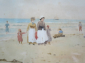 19th c French Watercolour - Beach Scene - picture 3