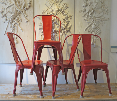 Set of 4 Tolix Chairs