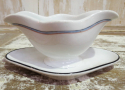 Heavy French White Sauce Boat circa 1900 - picture 3