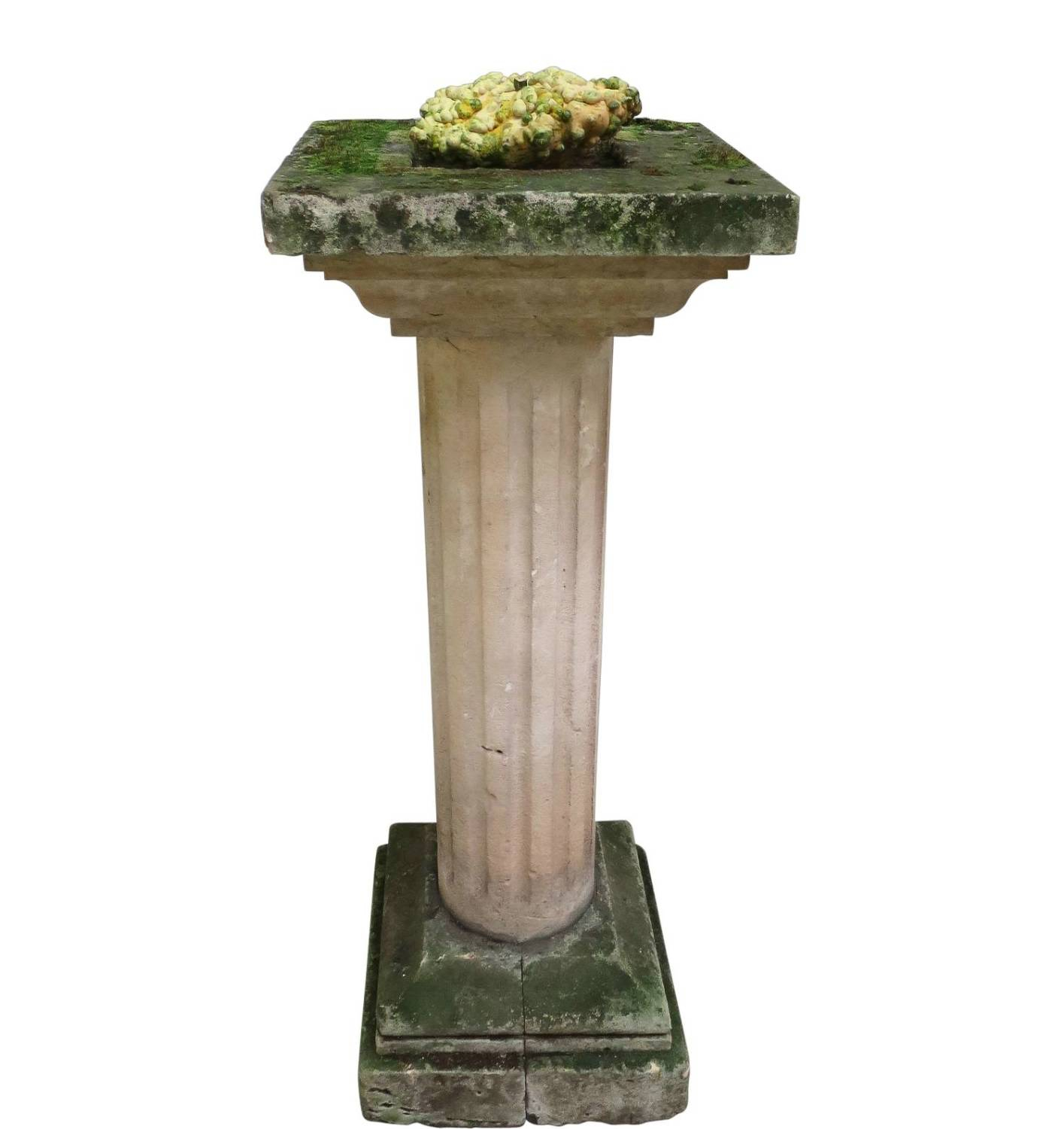 19th c French Stone Carved Bird Bath