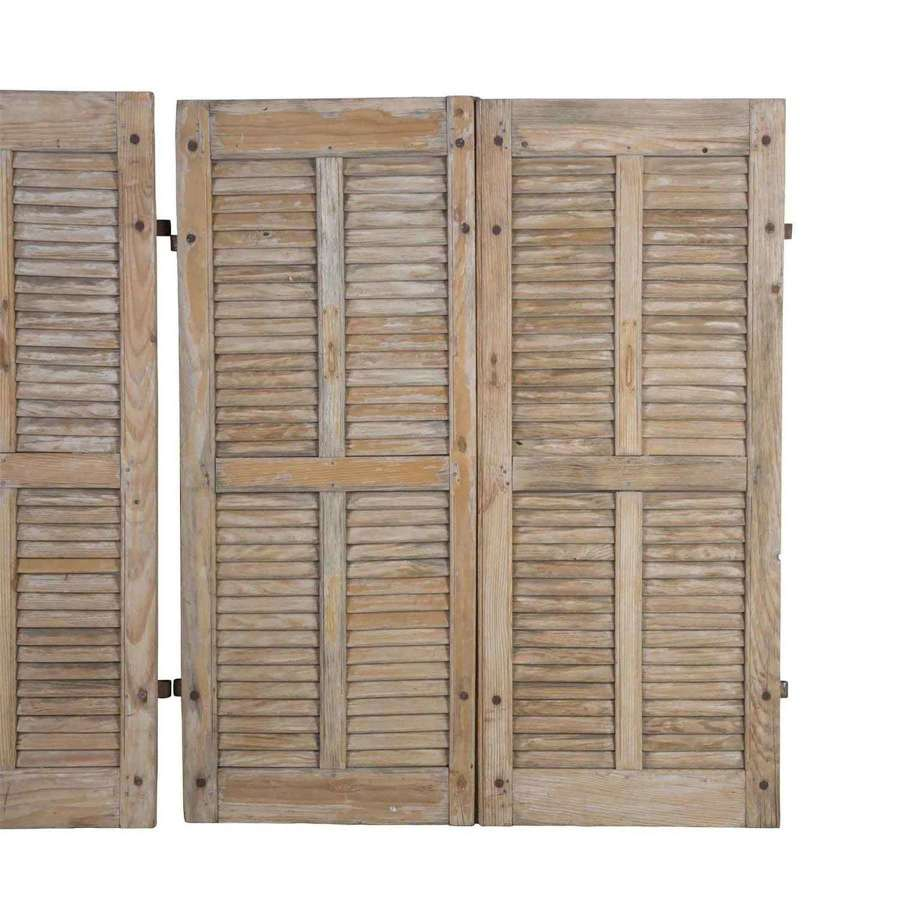 A Set of 4 19th Century Antique Pine Shutters