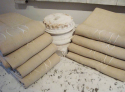 Old French Linen Sheets Monogrammed MD - picture 1