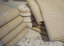 Old French Linen Sheets Monogrammed MD - picture 2