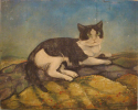 French Naive Painting of Tom Cat - picture 1