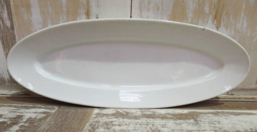 French heavy White Porcelain Fish Server