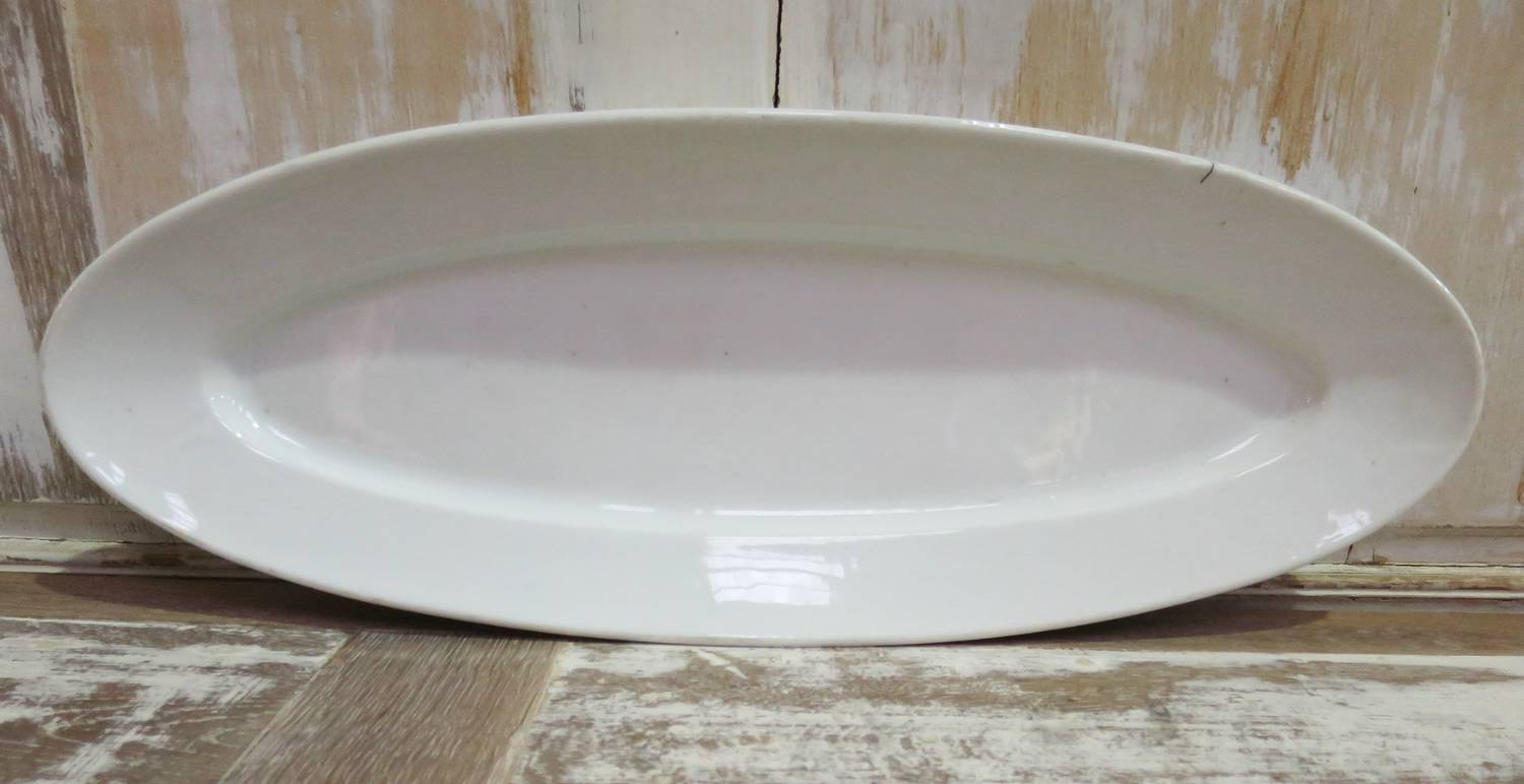 French heavy White Porcelain Fish Server