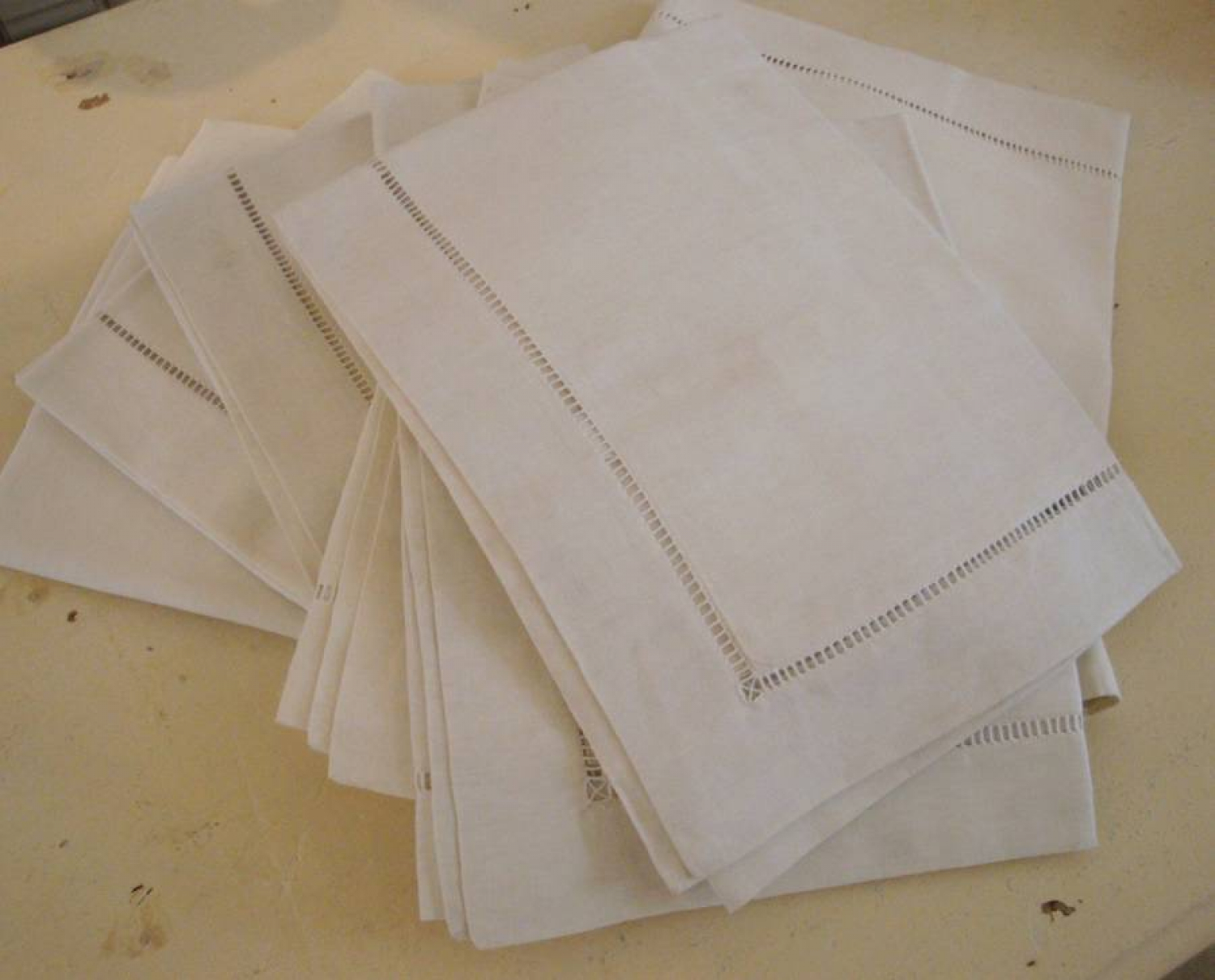 Old French linen pillow cases
