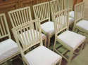 8 Swedish Slat-Back Dining Chairs - picture 2