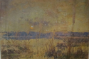 French `Marsh` Landscape Oil on Canvas - picture 1