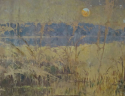 French `Marsh` Landscape Oil on Canvas - picture 2