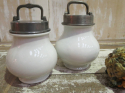 Pair 19th c French `Marmite` Cooking Jars - picture 1