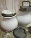 Pair 19th c French `Marmite` Cooking Jars - picture 2