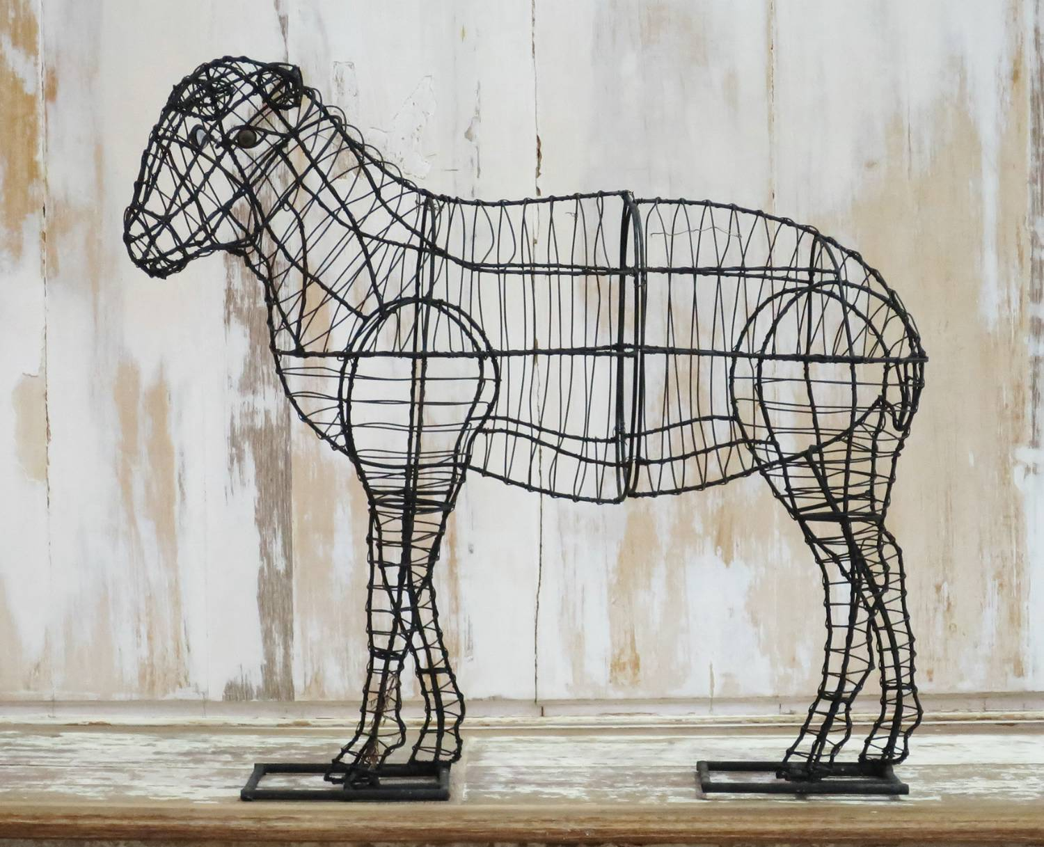 Wire Frame for Topiary in the form of a Sheep