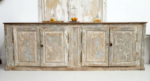 Early 19th c French `Enfilade` with original paint
