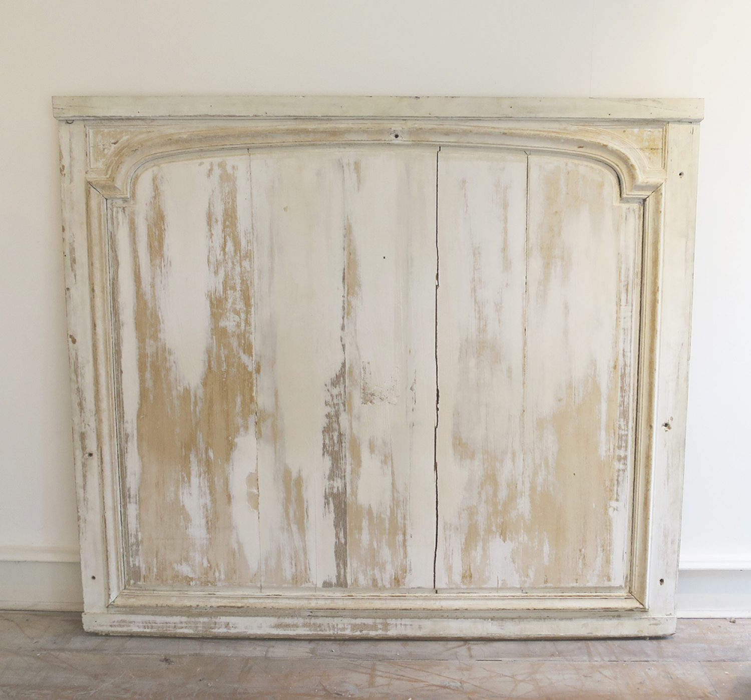Large 18th c French Panel with remains of old paint - circa 1750