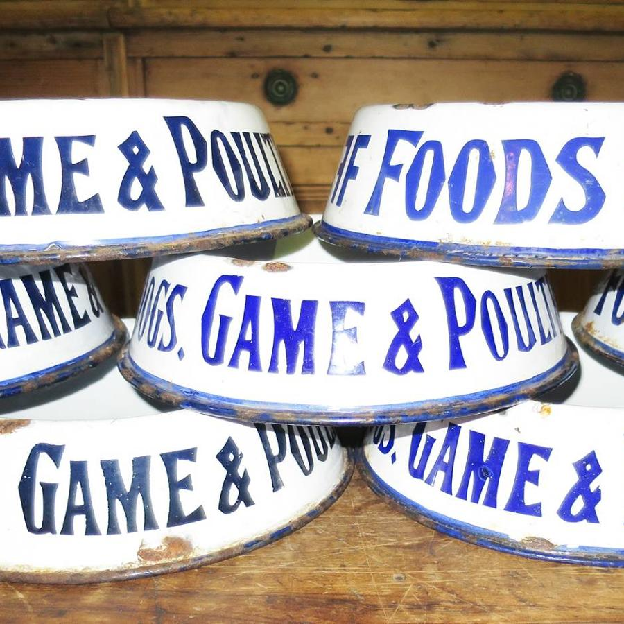 English Enamel Dog Bowls - irresistible!