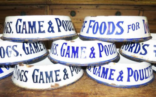 English Enamel Dog Bowls - irresistible!