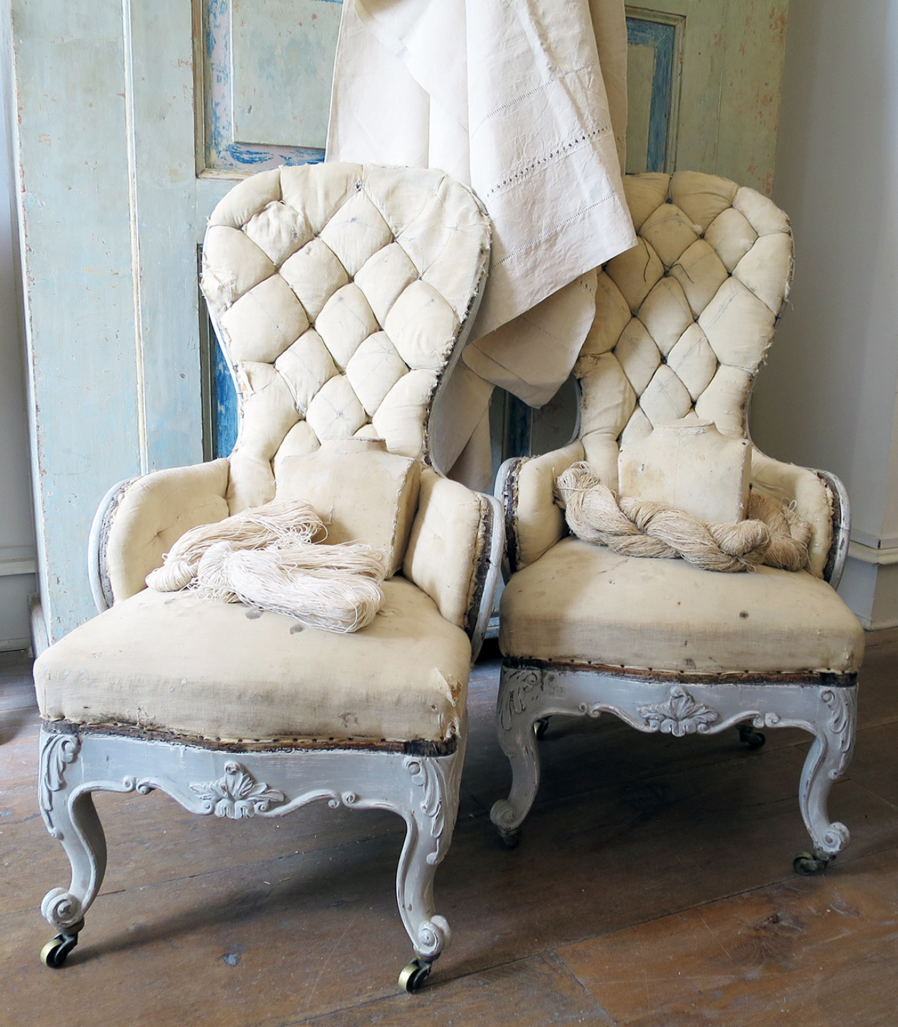 Pair small 19th c quirky Chairs