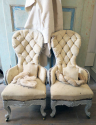 Pair small 19th c quirky Chairs - picture 2