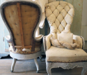Pair small 19th c quirky Chairs - picture 4