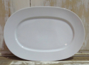 Simple white porcelain Oval Serving Plate - picture 1
