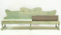 18th c Italian long Green Bench - picture 2