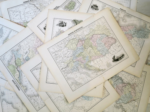 Collection of 19th century Maps