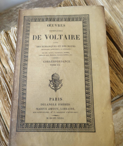 Set of 17 French Books `Works of Voltaire`