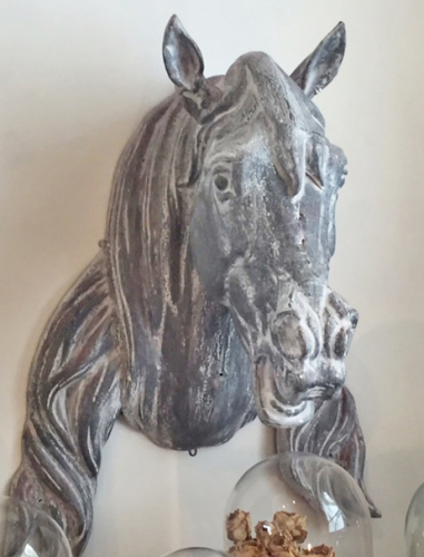 19th century zinc Antique horses head