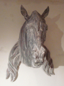 19th century zinc Antique horses head - picture 3