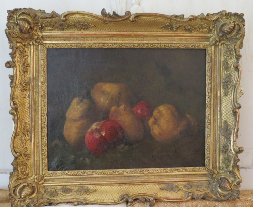 19th c Still Life of Apples and Pears
