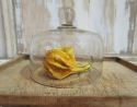 Large 19th c Glass Cheese Bell - picture 1