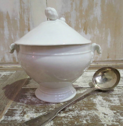 Smaller French White Soup Tureen