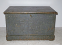 19th c English Painted pine Blanket Box - picture 1
