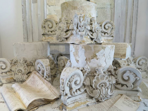 19th century French Plaster Capitals