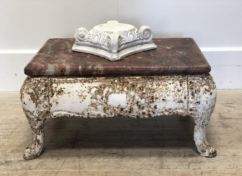 19th c French Cast Iron Coffee Table