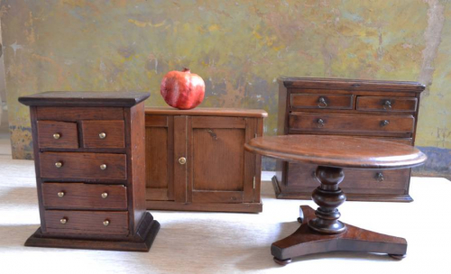 Collection of Miniature Antique Furniture