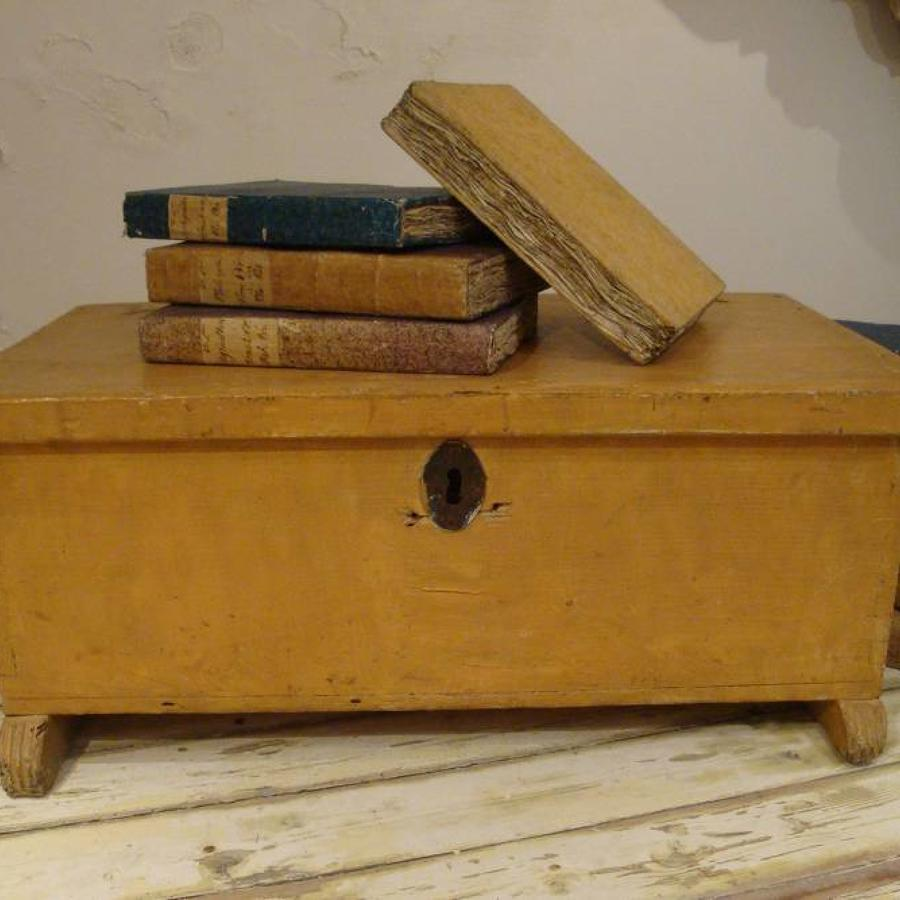 18th century French Wooden Trunk